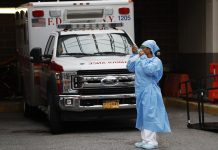 In the United States infected with the coronavirus spouse died in one day
